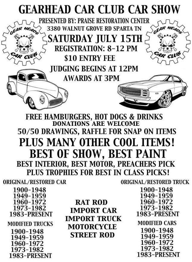 Gearhead Car Club Car Show | Upper Cumberland Reporter