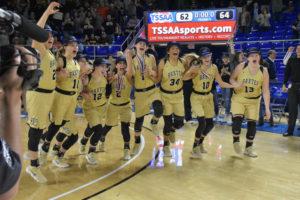 UHS Girls Basketball State Champions 3-10-18-57