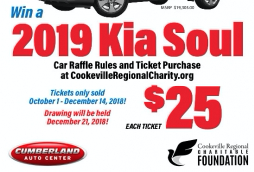 Car Raffle To Benefit Cookeville Regional Medical Center