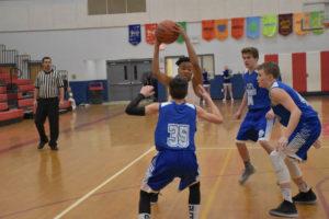 AMS Basketball vs Allardt 1-15-19-38
