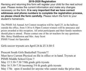 psms announcements 4-16-19 2