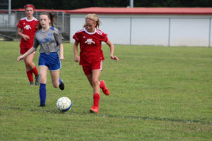 AMS Lady Redskins Soccer Commands Victory over JCMS 8-12-19 by David-13
