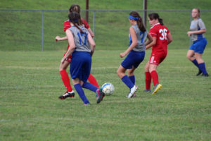 AMS Lady Redskins Soccer Commands Victory over JCMS 8-12-19 by David-2