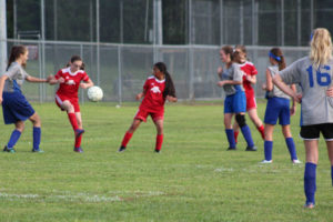 AMS Lady Redskins Soccer Commands Victory over JCMS 8-12-19 by David
