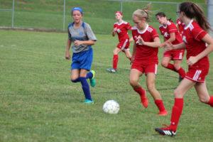 AMS Lady Redskins Soccer Commands Victory over JCMS 8-12-19 by David-34