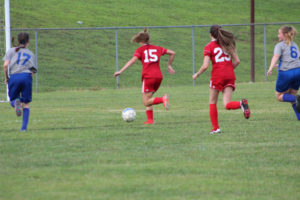 AMS Lady Redskins Soccer Commands Victory over JCMS 8-12-19 by David-49