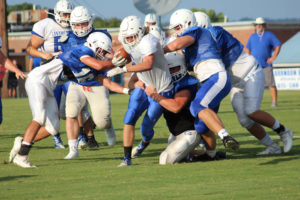 LA Football Scrimmages GHS 8-9-19 by David-48