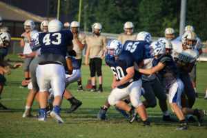 UHS FB Scrimmage vs JCHS 8-6-18 by Melissa-11