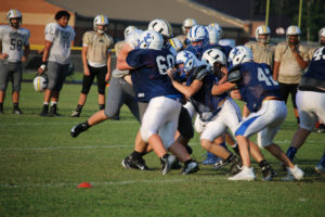 UHS FB Scrimmage vs JCHS 8-6-18 by Melissa-12