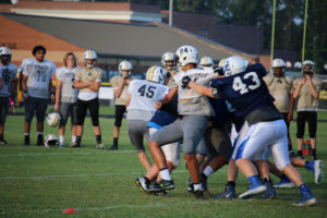 UHS FB Scrimmage vs JCHS 8-6-18 by Melissa-17