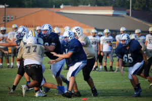 UHS FB Scrimmage vs JCHS 8-6-18 by Melissa-19
