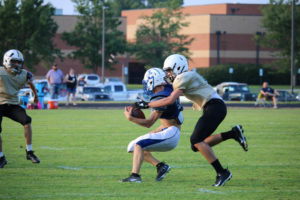 UHS FB Scrimmage vs JCHS 8-6-18 by Melissa-21