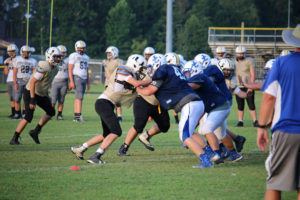 UHS FB Scrimmage vs JCHS 8-6-18 by Melissa-24
