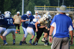 UHS FB Scrimmage vs JCHS 8-6-18 by Melissa-25