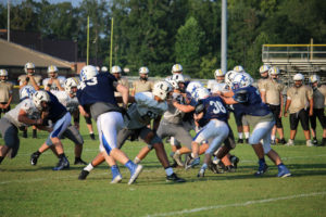 UHS FB Scrimmage vs JCHS 8-6-18 by Melissa-3