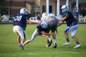 UHS FB Scrimmage vs JCHS 8-6-18 by Melissa-32