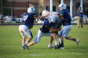UHS FB Scrimmage vs JCHS 8-6-18 by Melissa-33