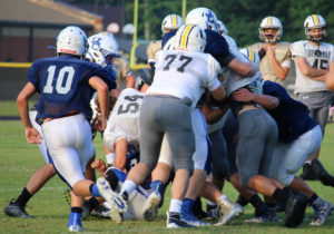 UHS FB Scrimmage vs JCHS 8-6-18 by Melissa-41