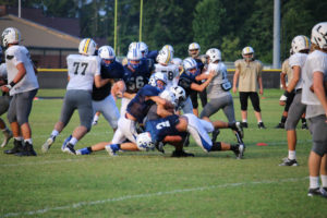 UHS FB Scrimmage vs JCHS 8-6-18 by Melissa-44