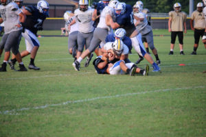 UHS FB Scrimmage vs JCHS 8-6-18 by Melissa-45