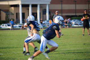 UHS FB Scrimmage vs JCHS 8-6-18 by Melissa-5